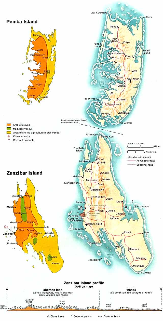 Map Zanzibar Frontier Safari The UKs finest tailormade
